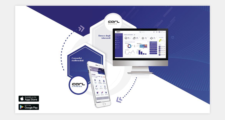 CARL Xpress: Applicazione mobile per il consuntivo degli interventi.